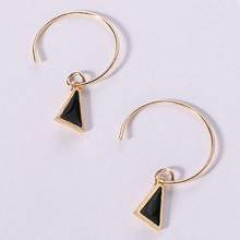 Black Triangle Earring